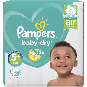 Pampers Baby-Dry Windeln Gr. 5+ 12-17kg