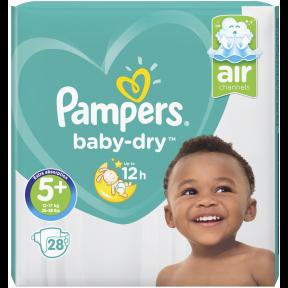 Pampers Baby-Dry Windeln Gr. 5+ 12-17 kg 28 Stück