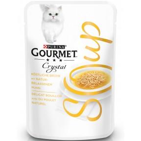 Purina Gourmet Crystal Soup mit naturbelassenem Huhn Katzenfutter nass 40 g
