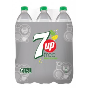 Pepsi 7 Up Free PET 6x 1,5 ltr