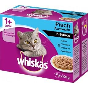 Whiskas 1+ Fischauswahl in Gelee Katzenfutter nass Multipack