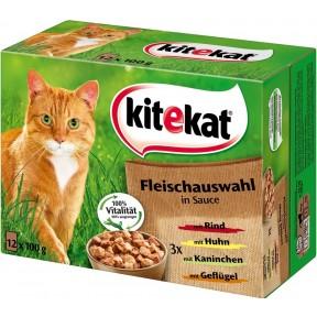 Kitekat Fleischauswahl in Sauce Katzenfutter nass Multipack
