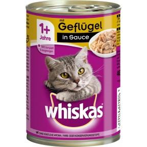Whiskas 1+ mit Geflügel in Sauce Katzenfutter nass 0,4 kg