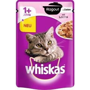 Whiskas 1+ Ragout in Gelee mit Lachs Katzenfutter nass Beutel