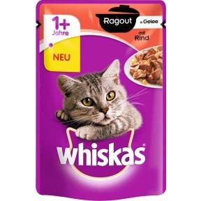 Whiskas 1+ Ragout in Gelee mit Rind Katzenfutter nass Beutel