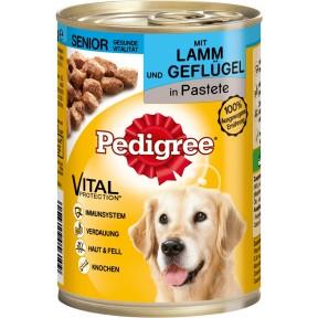 Pedigree Senior mit Lamm und Geflügel in Pastete Hundefutter nass