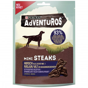 PurinaAdventuros Mini Steaks Hirsch 70G