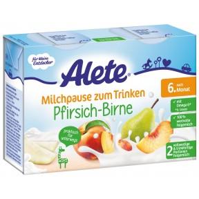Alete Milchpause zum Trinken Pfirsich-Birne nach dem 6. Monat