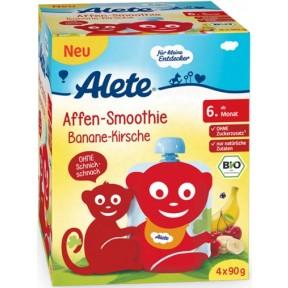 Alete Bio Affen Smoothie Banane-Kirsche ab dem 6. Monat
