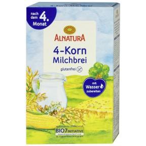 Alnatura Bio 4-Korn Milchbrei nach dem 4. Monat
