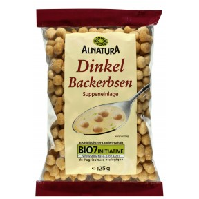 Alnatura Bio Dinkel Backerbsen 125 g