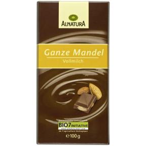 Alnatura Bio Ganze Mandel Schokolade 100G