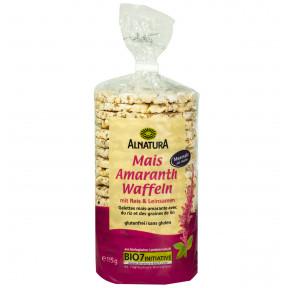Alnatura Bio Mais Amaranth Waffeln mit Reis & Leinsamen 115G