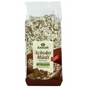 Alnatura Bio Schoko Müsli mit Vollmilch Schokolade 750 g