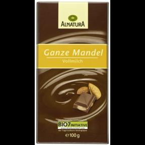 Alnatura Bio Ganze Mandel Vollmilch Schokolade