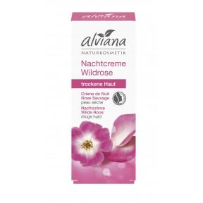 Alviana Nachtcreme Wildrose für trockene Haut