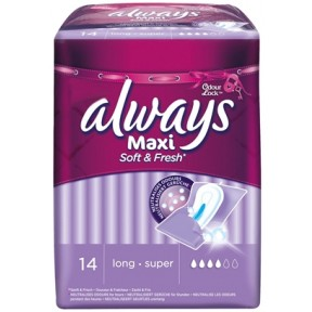 Always Maxi Soft & Fresh long-super Binden