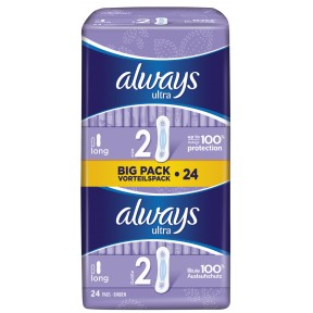 Always Binden Ultra Long Big Pack Vorteilspack Größe 2 24 Stück