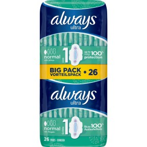 Always Binden Ultra Normal BIG PACK VORTEILSPACK Größe 1