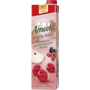 Amecke Sanfte Säfte Himbeer-Johannisbeer-Apfel 1 ltr