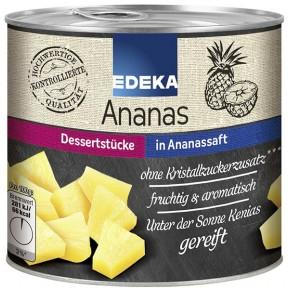 EDEKA Ananas ganze Scheiben gezuckert 836 g