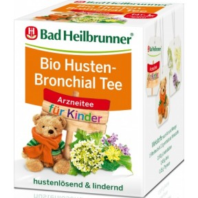 Bad Heilbrunner Kinder Bio Husten-Bronchial Tee 8x 1,5 g
