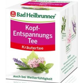 Bad Heilbrunner Kopf-Entspannungs Tee 8ST 16G