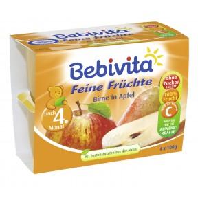 Bebivita Feine Früchte Birne in Apfel nach dem 4. Monat 4x 100 g