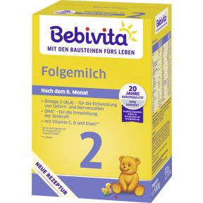 Bebivita 2 Folgemilch nach dem 6.Monat 500G