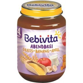 Bebivita Abendbrei - Grieß-Banane-Apfel ab 4. Monat 190 g