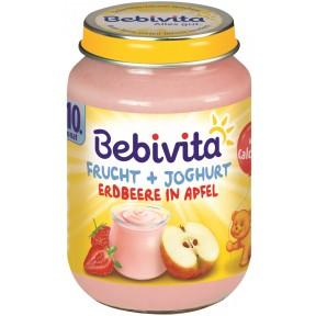 Bebivita Frucht + Joghurt Erdbeere in Apfel ab dem 10. Monat 190 g