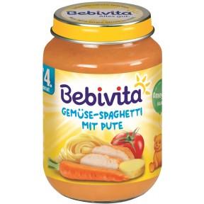 Bebivita Gemüse-Spaghetti mit Pute ab 4. Monat