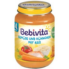 Bebivita Gemüse und Hühnchen mit Reis nach dem 4. Monat