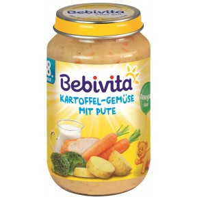 Bebivita Kartoffel-Gemüse mit Pute ab 8. Monat