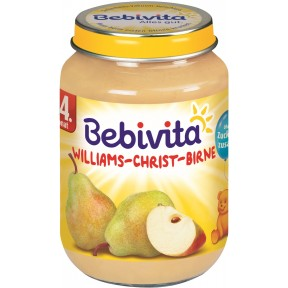 Bebivita Williams-Christ-Birne nach dem 4. Monat