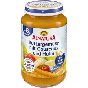 Alnatura Bio Buttergemüse mit Couscous und Huhn ab 8.Monat 220 g