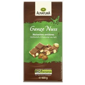 Alnatura Bio Ganze Nuss Schokolade 100G