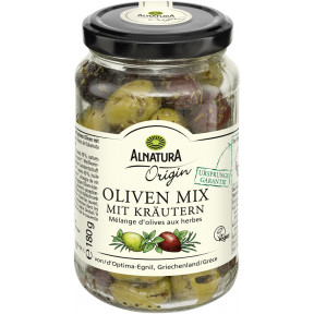 Alnatura Origin Bio Oliven Mix mit Kräutern 180G