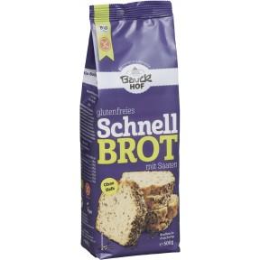 Bauckhof Bio glutenfreies Schnellbrot mit Saaten Backmischung 500g