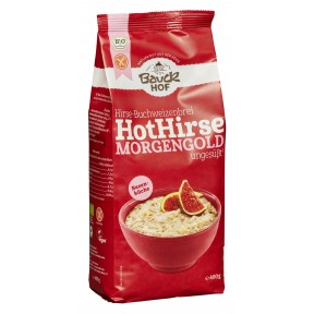 Bauckhof Bio Hirse-Buchweizenbrei Hot Hirse Morgengold ungesüßt glutenfrei 400 g