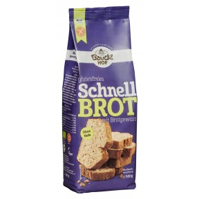 Bauckhof Bio glutenfreies Schnellbrot mit Brotgewürz 500g