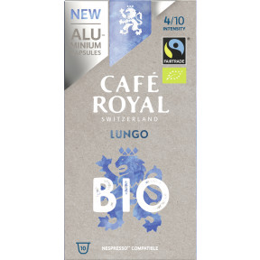 Café Royal Bio Lungo Fairtrade Kaffeekapseln 10ST 50G
