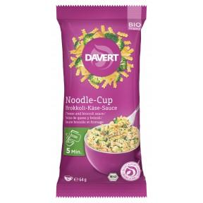 Bio Davert Noodle-Cup Brokkoli-Käse-Sauce 64g