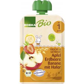 EDEKA Bio Apfel, Erdbeere & Banane mit Hafer ab 1.Jahr 100G