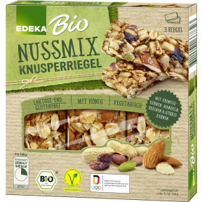 EDEKA Bio Knusperriegel Nussmix 3ST 75G