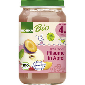 EDEKA Bio Pflaume in Apfel nach dem 4.Monat 190G