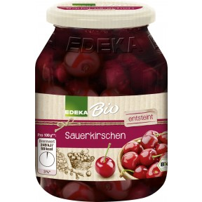 EDEKA Bio Sauerkirschen entsteint 360 g