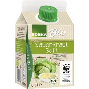EDEKA Bio Sauerkraut Saft 0,5 ltr