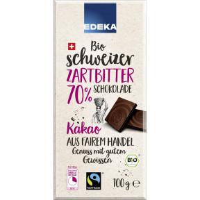 Edeka Bio Schweizer Zartbitter Schokolade 70% Kakao 100 g