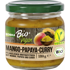 EDEKA Bio+Vegan Brotaufstrich Curry Mango Papaya 180 g